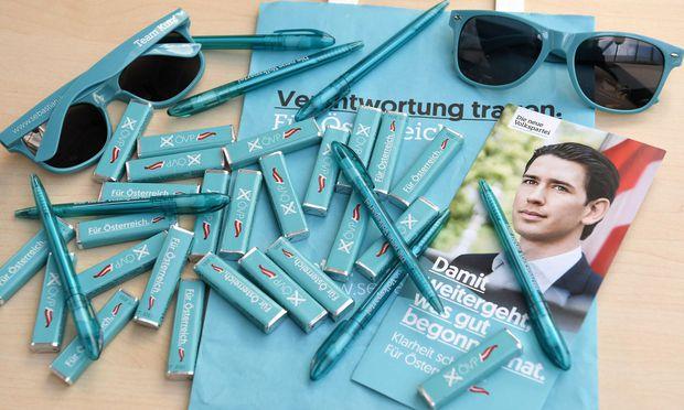 Symbolbild: Wahlkampfmaterial der ÖVP für die kommende Nationalratswahl