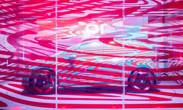 VW hofft, vom Elektroauto ID.3 (hier bei einem Marketingevent) im kommenden Jahr allein in Europa 100.000 Stück zu verkaufen. Der ID.3 wird im Herbst offiziell vorgestellt.