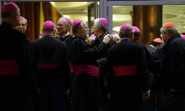Oct 24 2015 Vatican City State Holy See Cardinals and Bishops during the last session of Syno