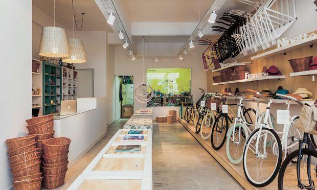"""Radkultur. """"Monochrom Bikes"""" in Buenos Aires, Argentinien."""
