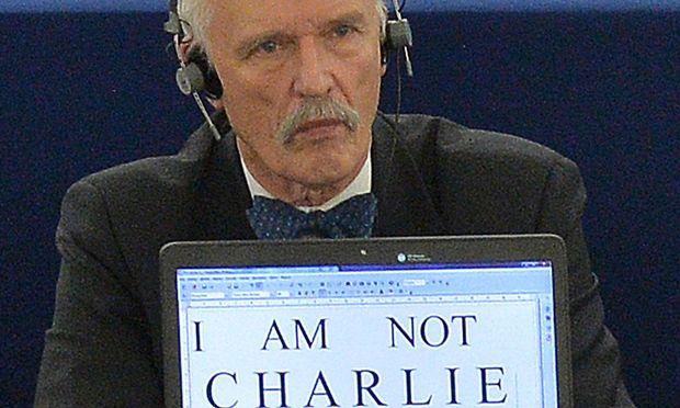 """Der polnische Abgeordnete Janusz Korwin-Mikke wusste auch nach dem Attentat auf das Pariser Satire-Magazin """"Charlie Hebdo"""" zu provozieren."""