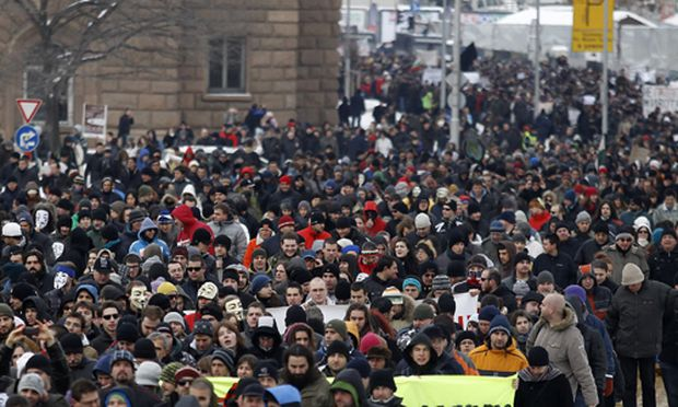 Proteste gegen ACTA in Sofia