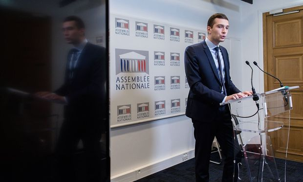 Jordan Bardella tritt bei der EU-Parlamentswahl an der Spitze der Partei Rassemblement National an.