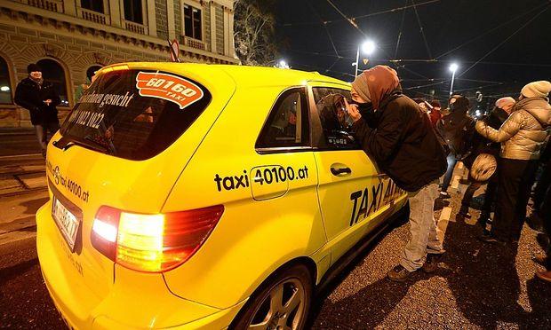 Taxi-Blockaden in der Innenstadt