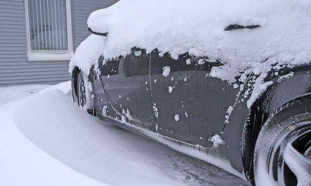 Winter mit viel Schnee und Eis.