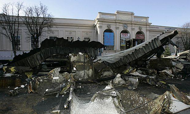 Der Eispalast im MQ wurde komplett zerstört.