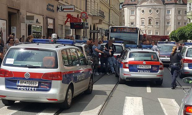 Die Festnahme in der Innsbrucker Altstadt