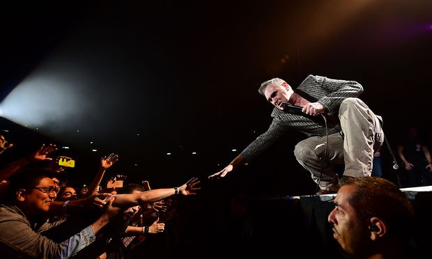 Morrissey jüngst bei einem Konzert / Bild: St. Etienne