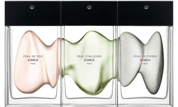 """Designerdüfte. """"Peau de soie"""", """"Peau d'ailleurs"""" und """"Peau de pierre"""", 90 ml Eau de parfum um 130 Euro, etwa bei Kussmund."""