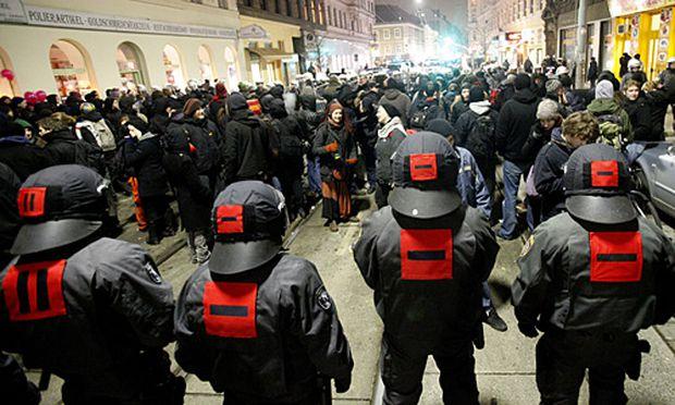 Burschenschafter-Ball Massives Polizeiaufgebot