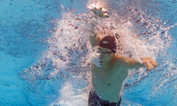 Felix Auböck, 20, Österreichs große Schwimmhoffnung. / Bild: (c) APA/AFP/FRANCOIS-XAVIER MARIT