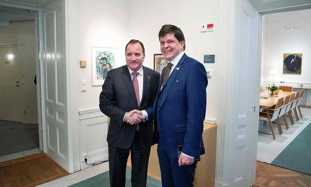 Ministerpräsident Löfven und Parlamentspräsident Norlen.