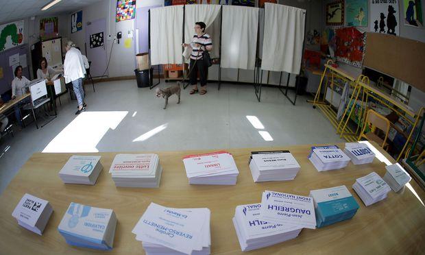 Erste Runde der Parlamentswahl in Frankreich