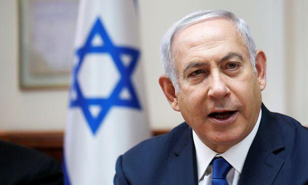 Weekly cabinet meeting at Netanyahu's office in Jerusalem