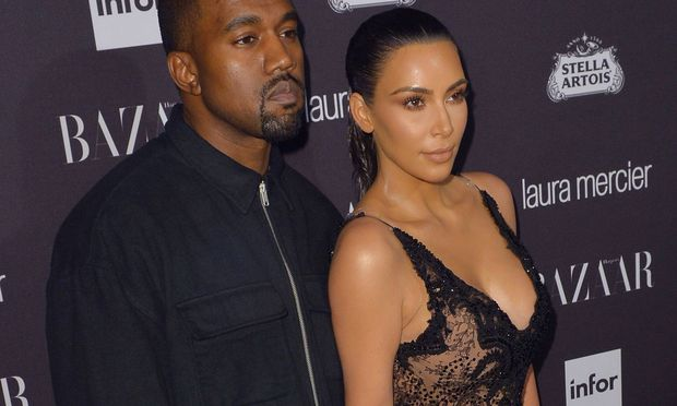 Kim Kardashian und Ehemann Kanye West.