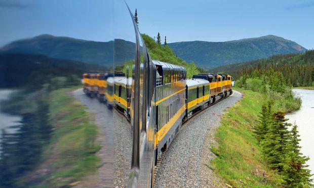 1904 erster Spatenstich, 1923 Inbetriebnahme: Alaska Railroad.  / Bild: Axel Baumann