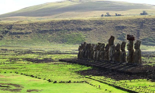 Die unergründlichen Moai, die steinernen Zeugen des mysteriösen Ahnenkults Rapa Nuis.