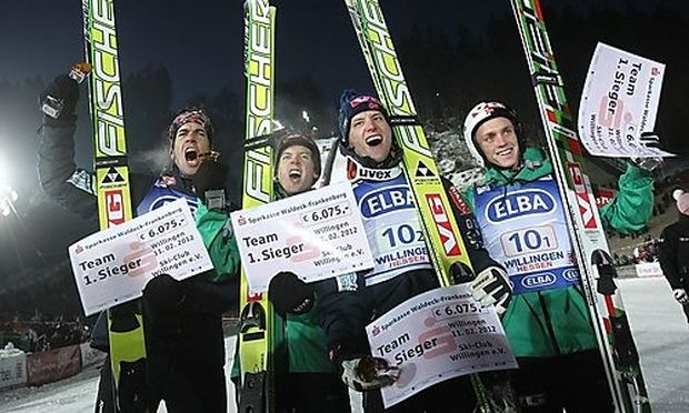 Norwegen gewann das Teamspringen in Willingen