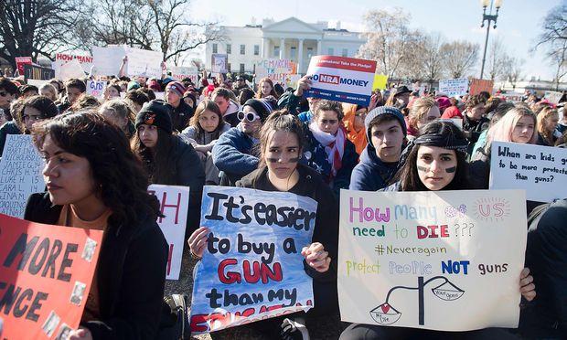 Schülerprotest vor dem Weißen Haus