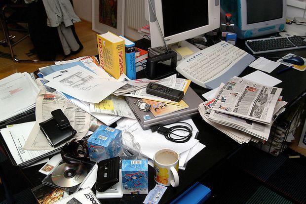 Chaotischer schreibtisch  Home Office: So funktioniert das Arbeiten zuhause « DiePresse.com