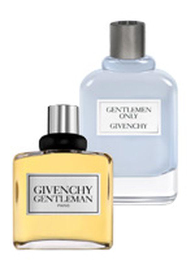 """Herrlich. Der neue Givenchy-Duft """"Gentleman Only"""" und sein Vorgänger, """"Gentleman"""" (jeweils 50ml um 58 Euro, exklusiv bei Marionnaud)."""