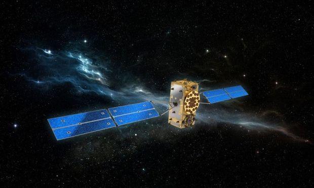 Visualisierung eines Galileo-Satelliten