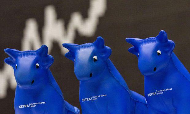 Die Bullen hatten an der Frankfurter Börse heuer eher nicht das Sagen.  / Bild: (c) APA/dpa/Frank Rumpenhorst
