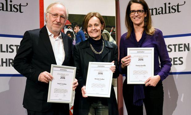 Josef Urschitz (links) und Hanna Kordik (rechts) räumten Bronze und Silber in der Wirtschaft ab.