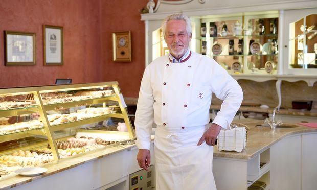 Josef Zauner in seiner Zuckerbäckerei in Bad Ischl.