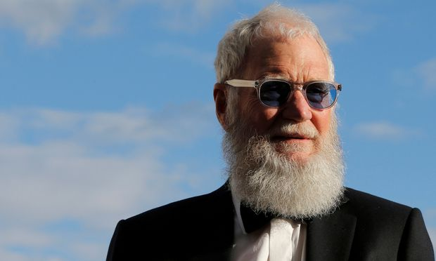 FILE PHOTO - David Letterman arrives for the 2017 Profile in Courage Award ceremony at the John F. Kennedy Library in Boston