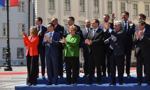 Applaus im Gleichklang beim Gipfel in Sibiu. Geht es um Konkretes, sind die Staats- und Regierungschefs weniger harmonisch.
