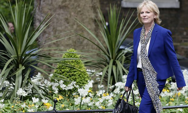 Anna Soubry arrives at 10 Downing Street as Britain's re-elected Prime Minister David Cameron names his new cabinet in central London