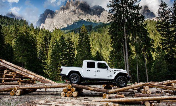 Der Name ist Programm: Gladiator nennt Jeep seinen Pick-up, der ab Mitte 2020 auch in Europa erhältlich sein wird.