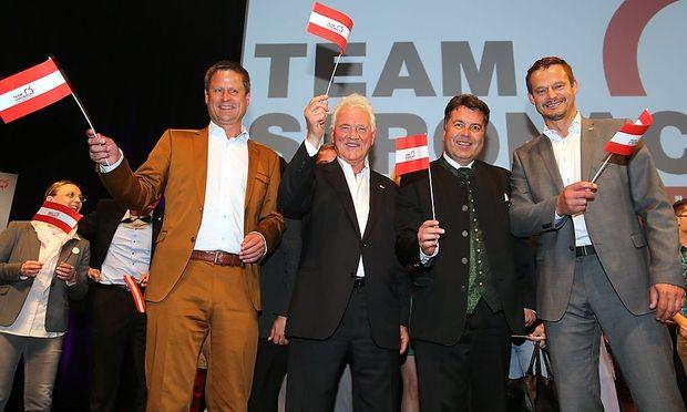 Kein Team mehr: Naderer, Stronach, Mayr, Konrad.