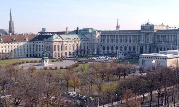 Blick auf Burggarten und Hofburg