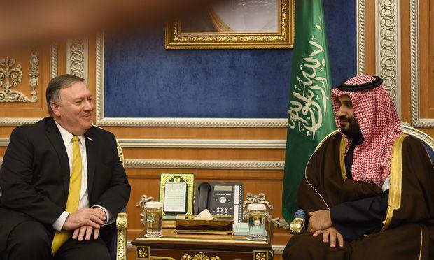 Außenminister Mike Pompeo und Kronprinz Mohammed bin Salman.