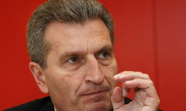 Oettinger stellt Stromkonzernen Rute