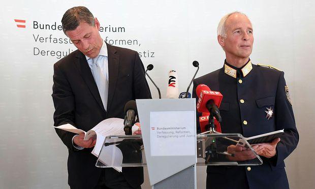 Justiz-Generalsekretär Christian Pilnacek (l.) und Innenministeriums-Generalsekretär Peter Goldgruber.