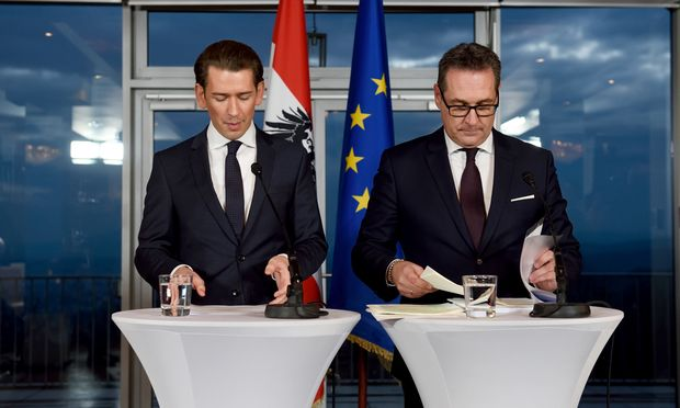 Die neue Regierungsspitze: Sebastian Kurz und Heinz-Christian Strache