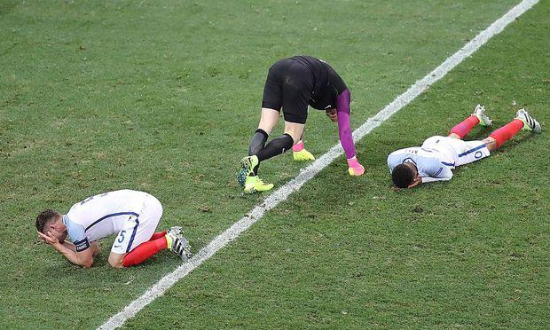 Englische Spieler am Boden