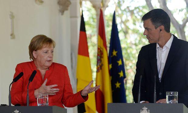 Merkel mit Spaniens Premier Sanchez