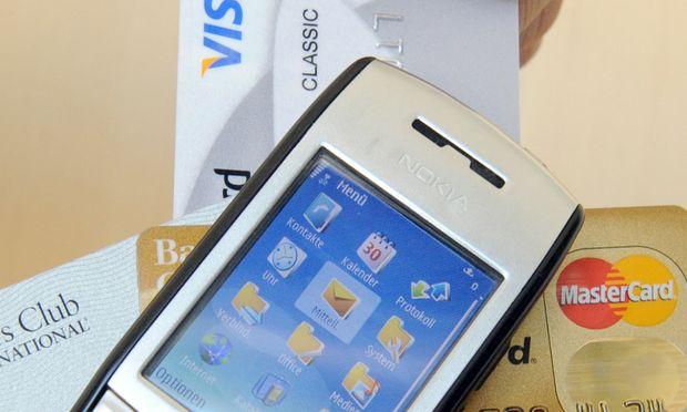 NFC, Zahlen, Handy, Kreditkarte, Bankomat