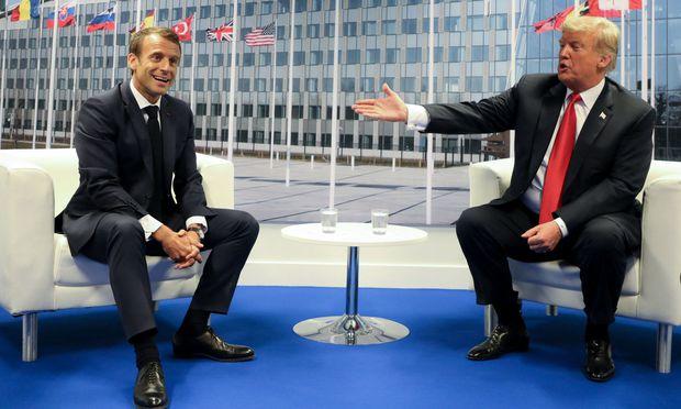 Emmanuel Macron und Donald Trump