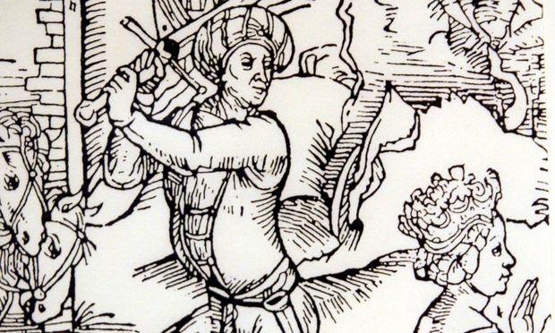 Illustration der Enthauptung von Anna Göldi