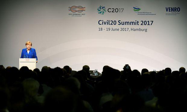 Angela Merkel war beim Civil20-Gipfel zu Gast.