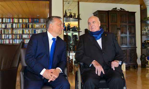 Hungarian Prime Minister Orban meets with former German Chancellor Kohl in Oggersheim
