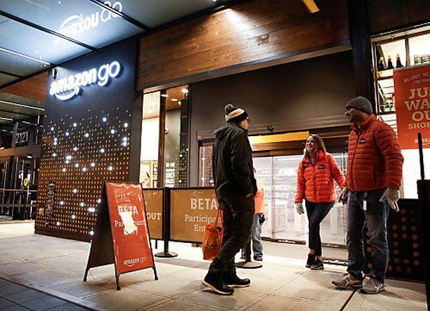 """Der erste """"Amazon Go""""-Supermarkt ohne Kassa soll bald eröffnen."""