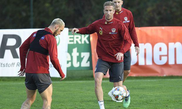 Marc Janko trainierte erstmals seit einem Jahr wieder mit dem Nationalteam.