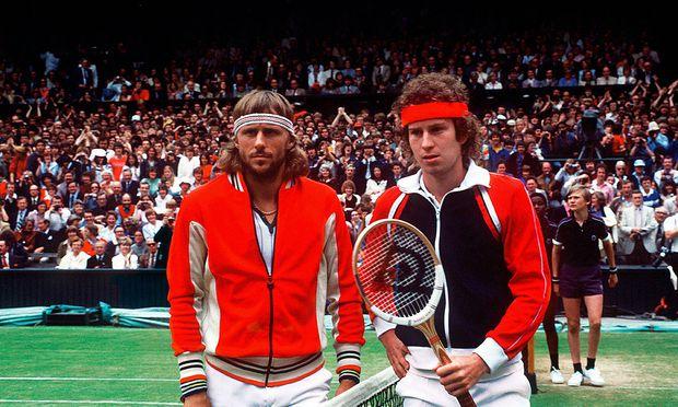 Bjorn Borg und John McEnroe.