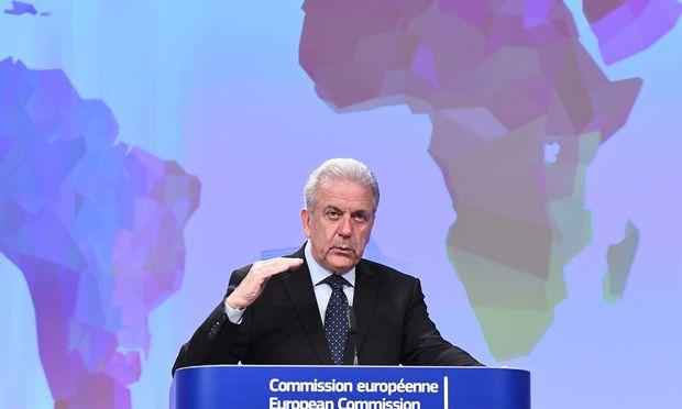 Migrationskommissar Dimitris Avramopoulos.